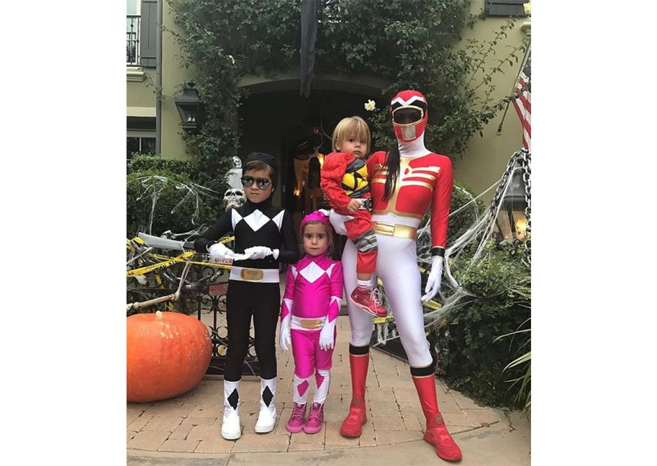 Kourtney Kardashian - Kourtney Kardashian and her children dress as the Power RangersPic Source: Hollywoodlife