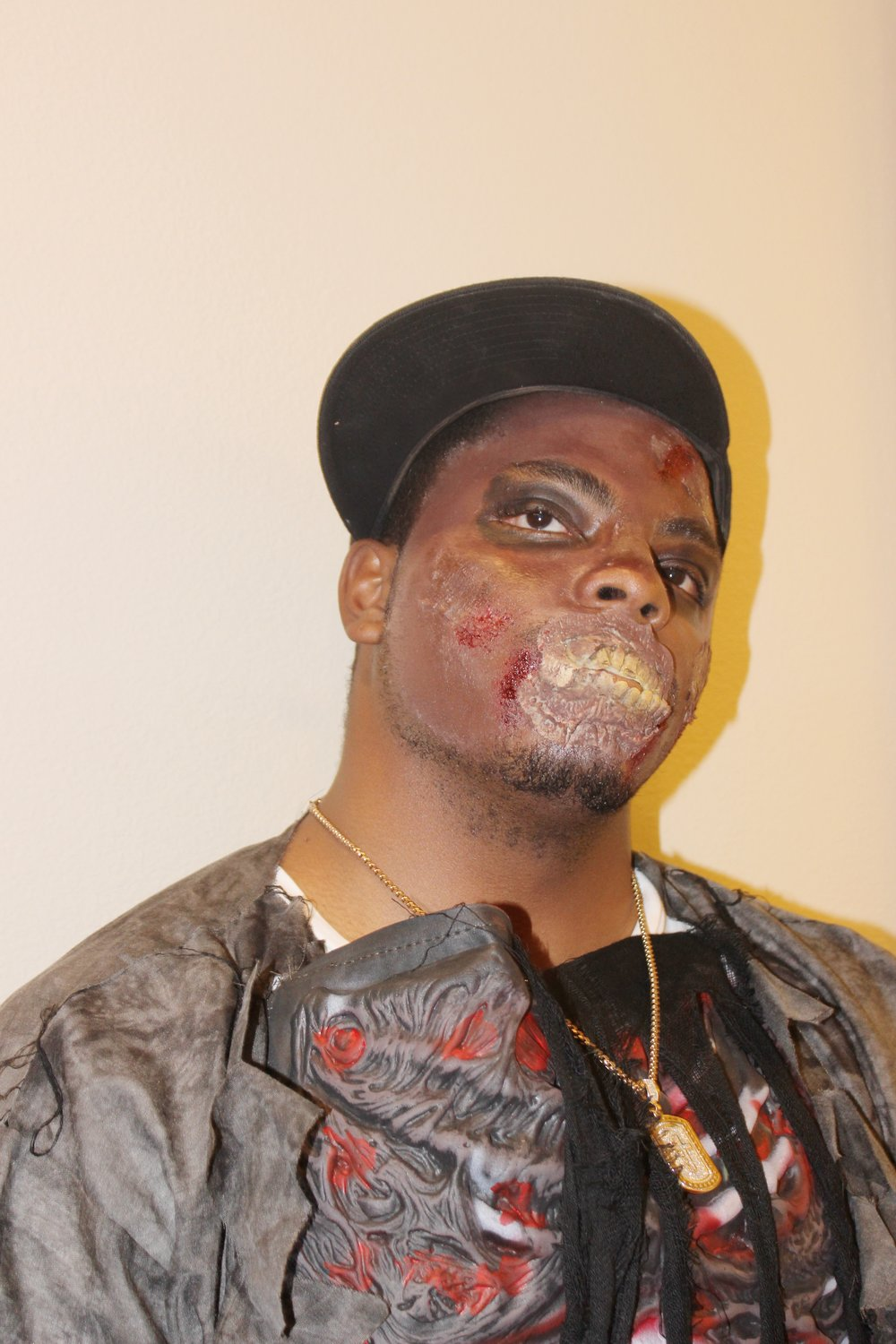 - My daughter did an amazing job on her dad's makeup for halloween