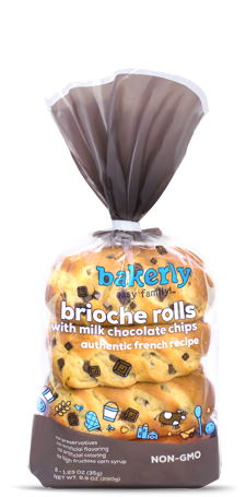 NON-GMO - Bakerly/ Brioche rolls with milk chocolate from the family line./ Extremely Delicious @http://bakerly.com/product/chocolate-rolls/