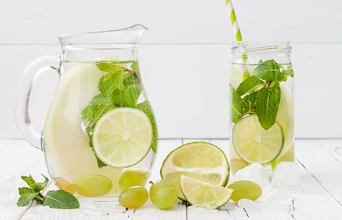 Detox Water - I love adding a mint leave, Lemon or lime or both it's so good.