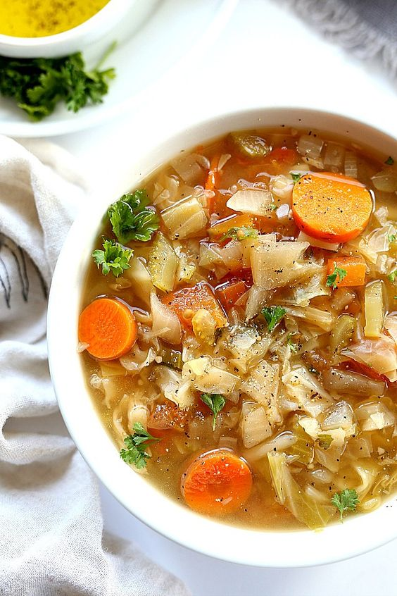 Cabbage Soup Kick Off - I kick off my New Year each Year with Cabbage soup meat not included.