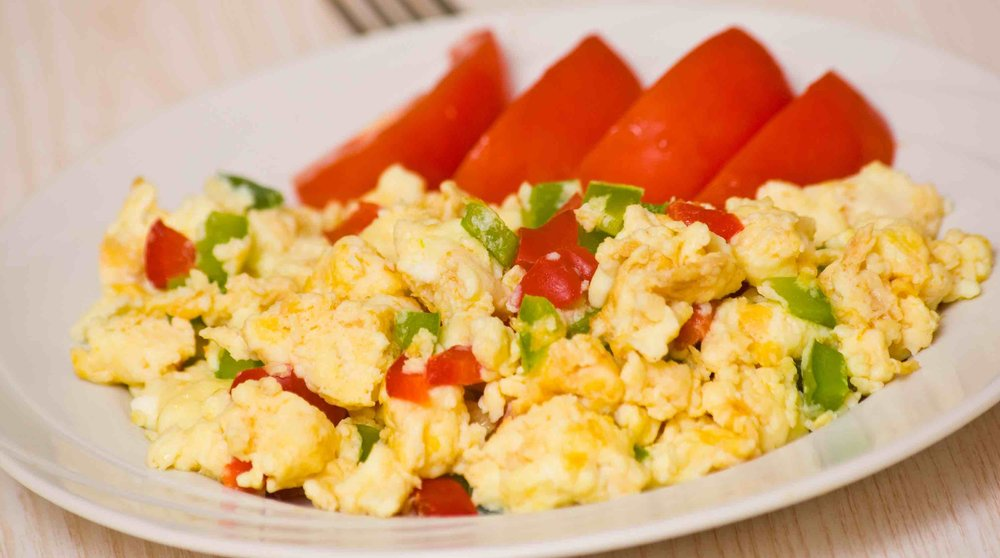 Eggs/Egg whites - Scrambles eggs/ Egg whites whatever you prefer. I like to add peppers and season them to my liking with a side of fruit and maybe avocado toast on 100% whole grain bread.