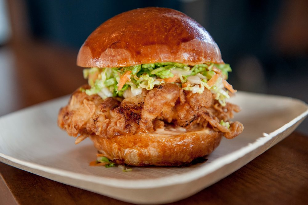 buttermilk fried chicken, napa slaw, sriracha mayo, brioche slider