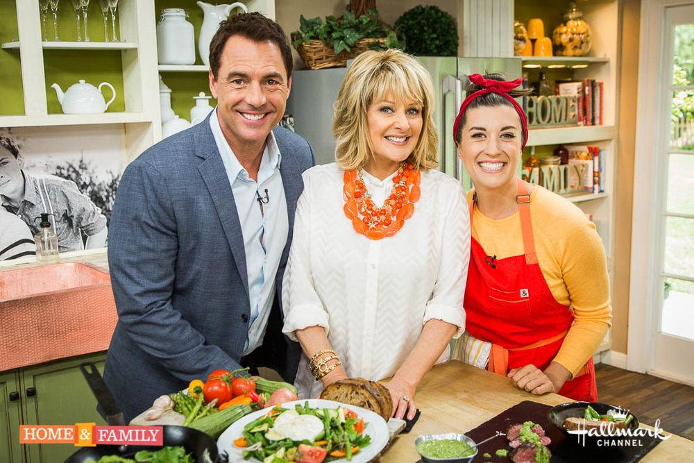 """Mark Steines and Cristina Ferrare welcome Peabody and Emmy-winning journalist and producer, Maria Shriver and Dr. Judy Pa to discuss Alzheimer's disease. HBO's """"Game of Thrones"""" actor, Joe Naufahu joins us. Chef and lifestyle expert Pace Webb cooks a delicious hangar steak with green harissa sauce. Dr. Brian Russell discusses his new app to keep your family safe: CheckOnMe. Another finalist of our """"Home & Family"""" DIY Star contest, Lorri Dyner, is making DIY paint stamped curtains. Orly Shani makes a DIY lunchbox backpack. Orly also shows you bedroom decorating tips for spring. Get swimsuit ready with Sophie Uliano's 30-day plan for a healthier body. Kristin Smith shares her favorite mom-approved baby products.  Credit:  Copyright 2016 Crown Media United States, LLC/Photographer:  jeremy lee/Alexx Henry Studios, LLC"""