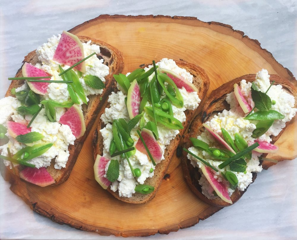 Kristina's Ricotta Toast with Farmer's Market Findings