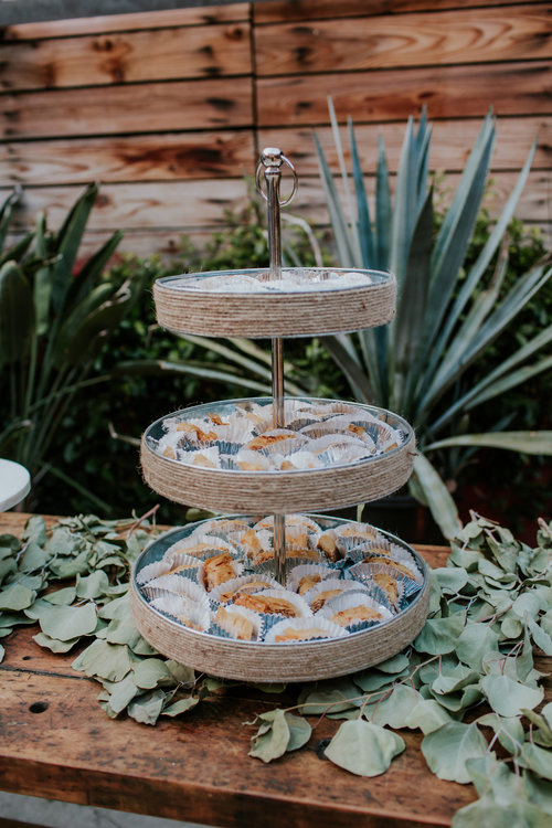 Industrial Wedding Elegance - A traditional catering menu married together perfectly with earthy and industrial elements, just like our blushing bride and groom.Catering this Los Angeles wedding was a dream come true full of love, laughter, and fun for the whole family.