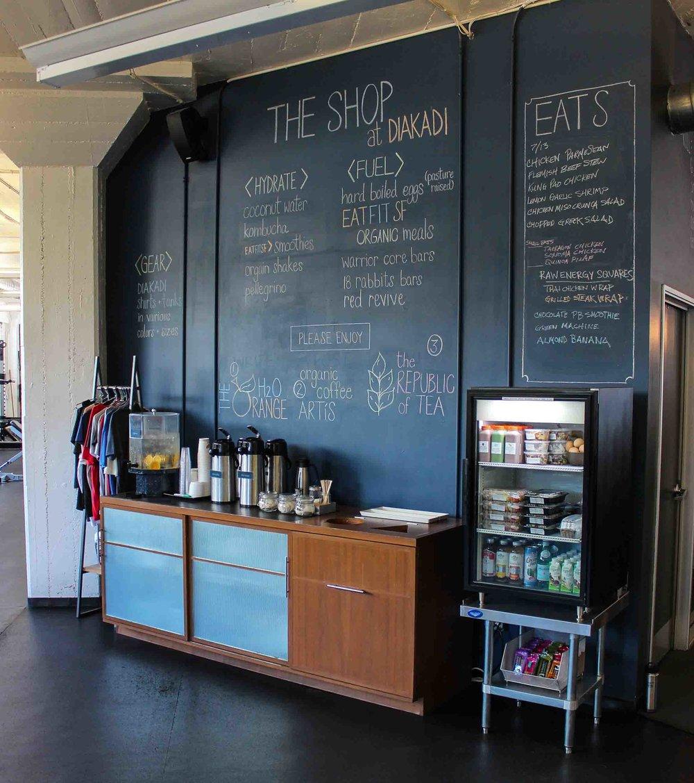 DIAKADI Beverage Bar complimentary water coffee tea.jpg