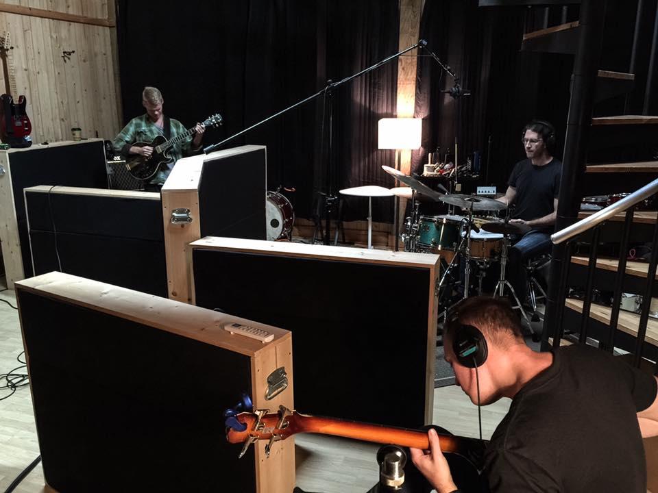 Thomas, Ron & Christian in the studio
