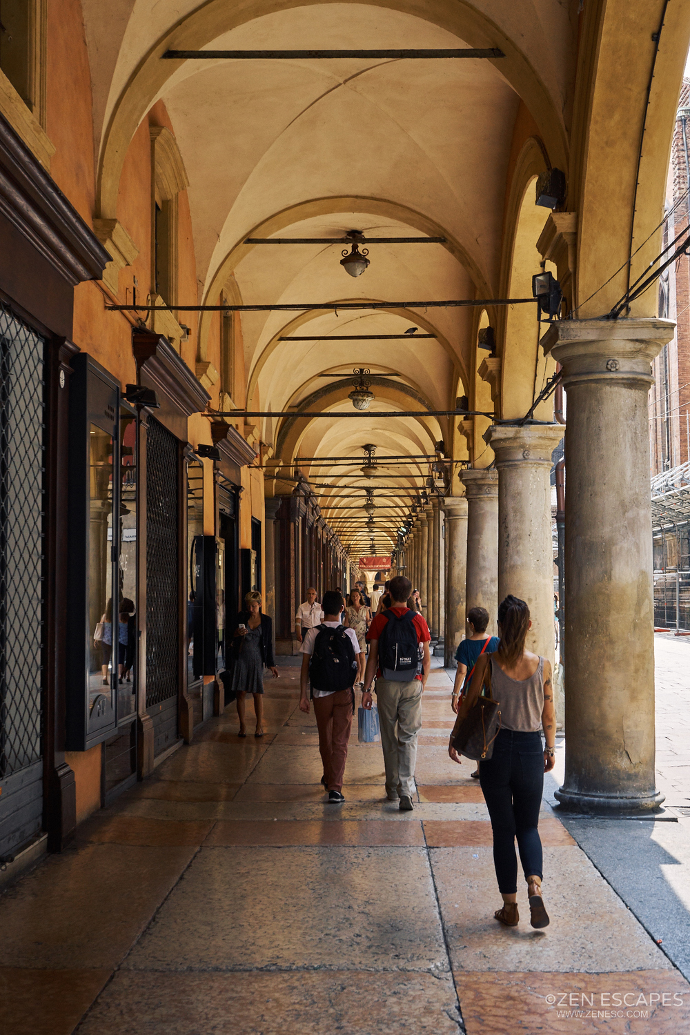 City arcades or Porticos. Bologna is famous for it's porticos, in total there is 38 in total in the city centre, spanning 45km. The longest portico in the world is also located here, 3.5km long, but I didn't visit it due to the location and reason mentioned beforehand.