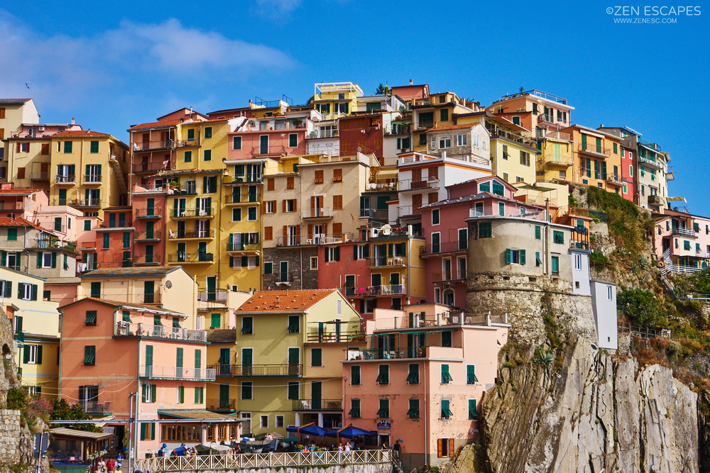 """The houses are built on the cliff, resulting in a distinctive """"layered"""" look."""