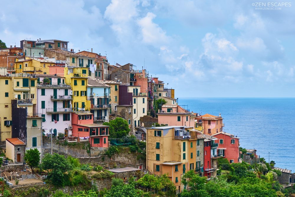 No sea front or harbour unlike the other villages, but Corniglia is not without character when viewed from the correct spot.
