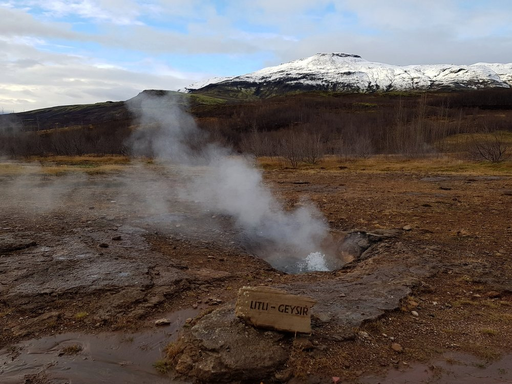Litli Geysir... literally meaning Little Geysir. Cute