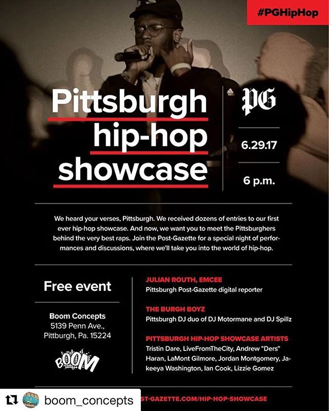 Tonight @boomconcepts ! #freeevent #pittsburgh #hiphop #coolplaces