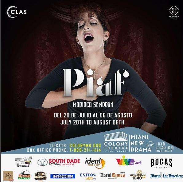 Piaf, Voz y Delirio - Instagram (@Piafelmusical)
