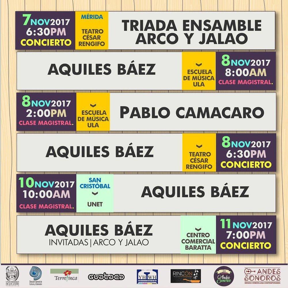 Calendario (instagram Festival Andes Sonoros)