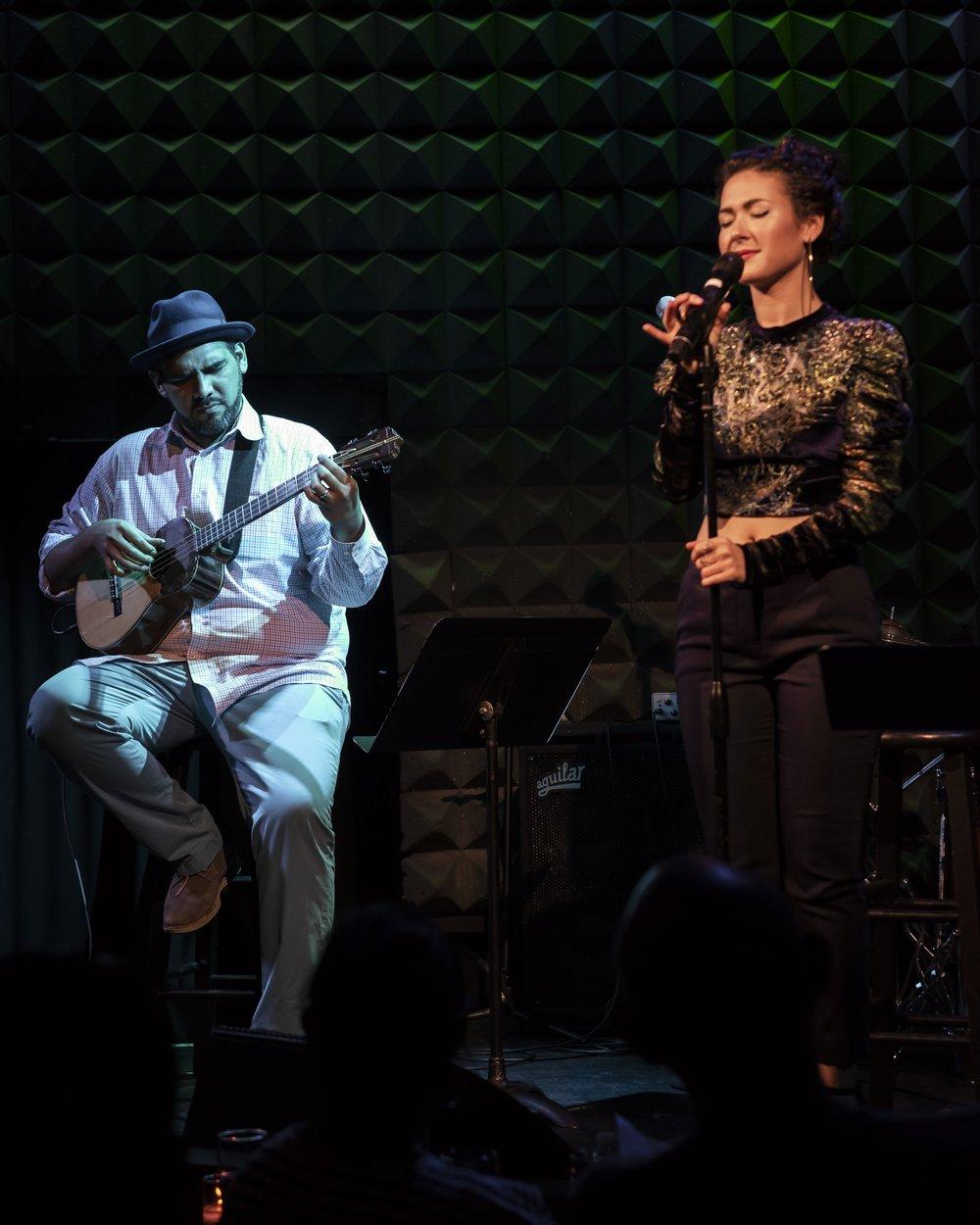 Jorge Glem y Nella Rojas. Joe´s Pub. Fotografía Romina Hendlin