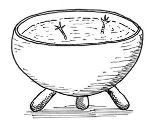 marmite de bouillon et pattes de poule