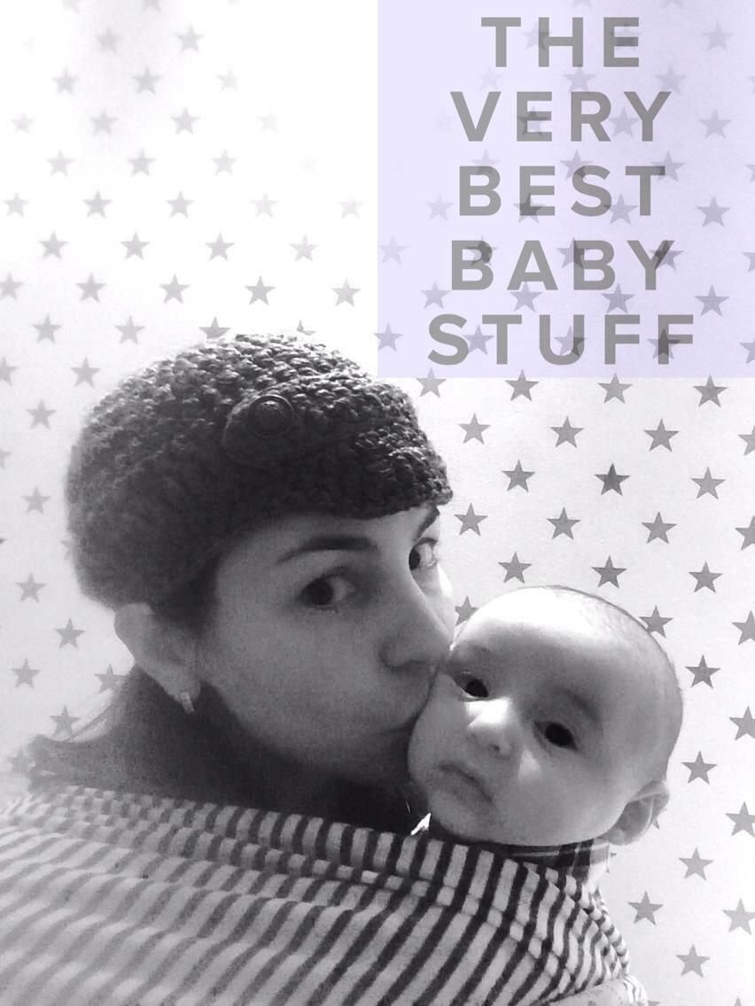 A selfie of me and baby S in the Solly wrap in his nursery.