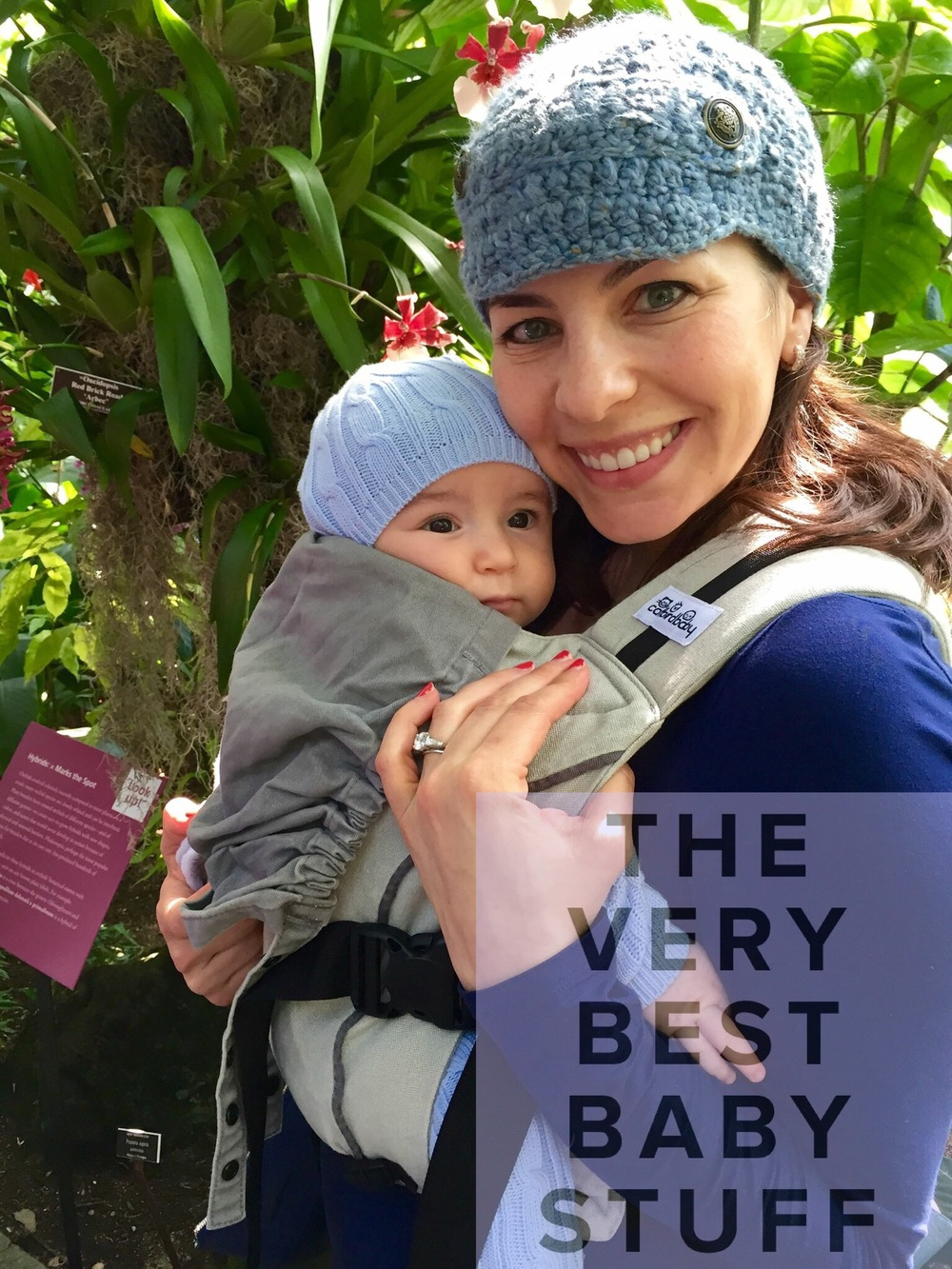 Me and Baby S in his Catbird Pikkalo at the NY Botanical Gardens Orchid Show.