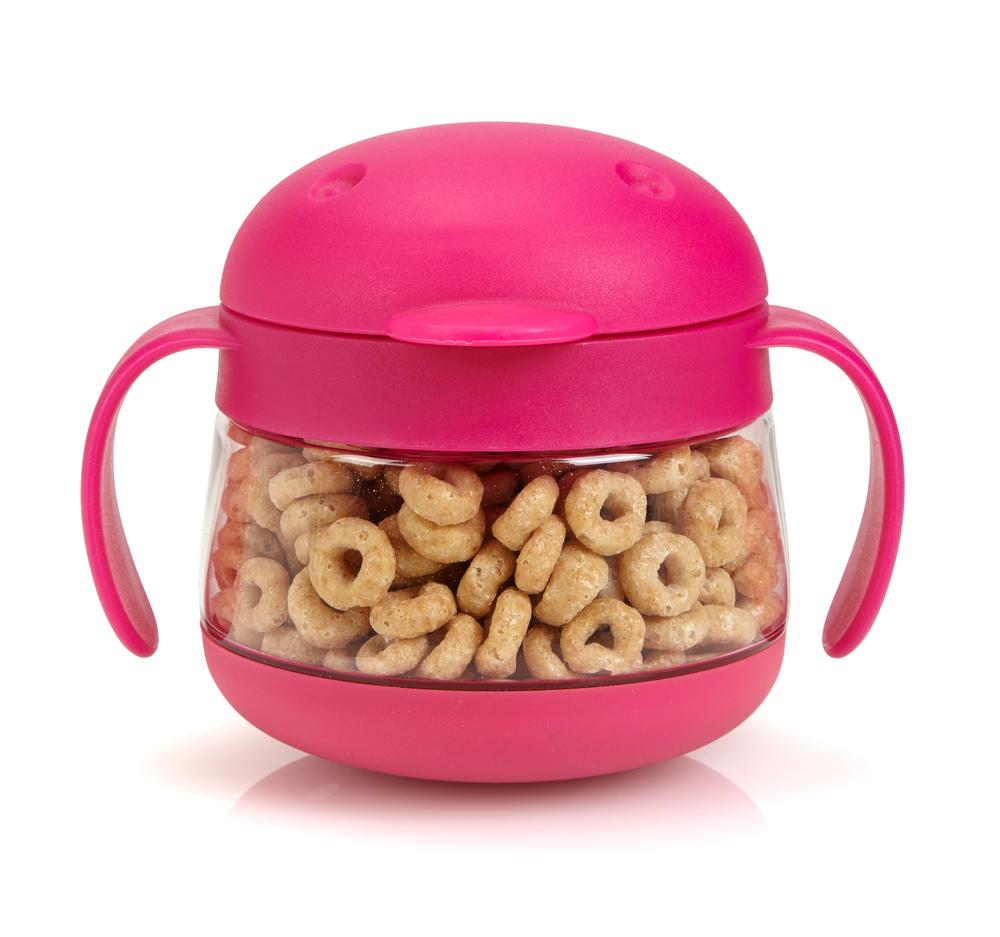 Pink Ubbi Tweat with Cheerios