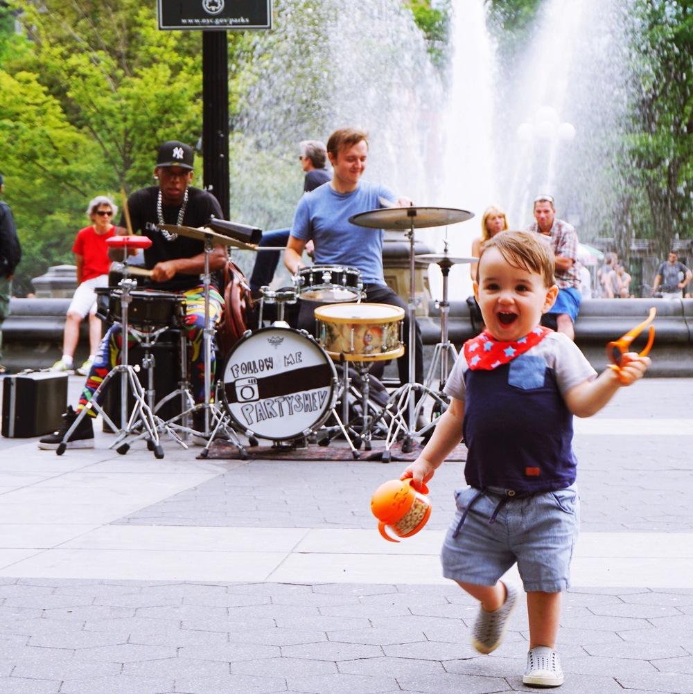 Washington Square Park with Orange Tweet I
