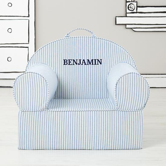 Land of Nod Personalized blue chair