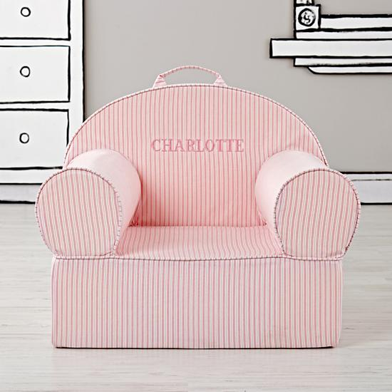 land of nod personalized chair pink