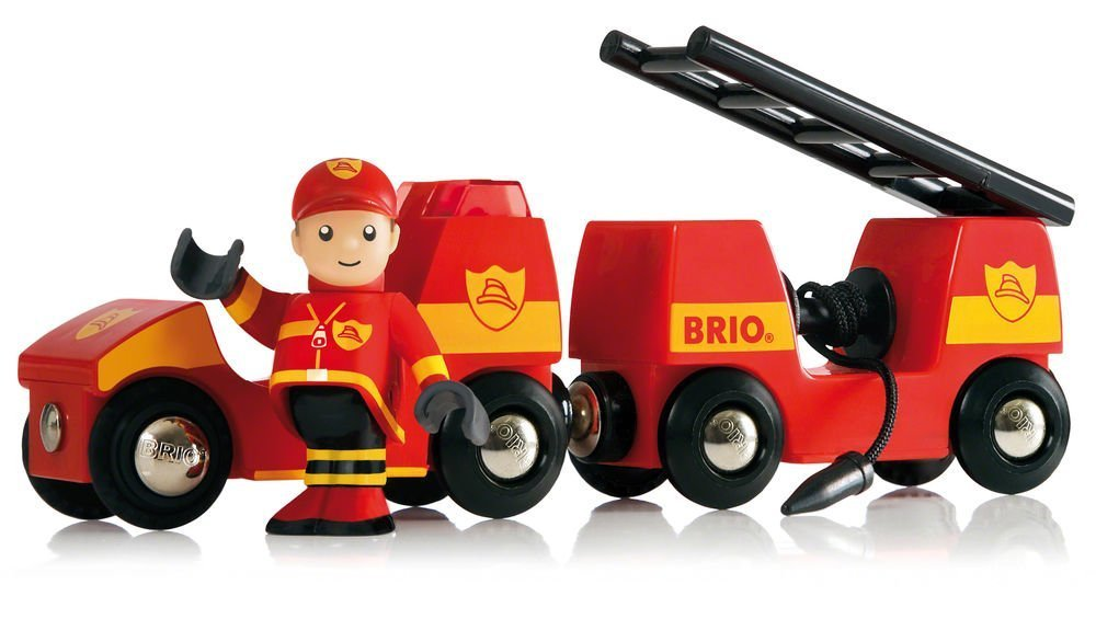 Brio Fire Engine Train Set