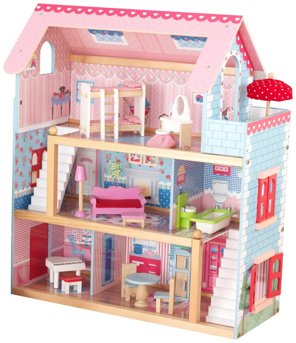 Roll over image to zoom in KidKraft Chelsea Doll Cottage with Furniture