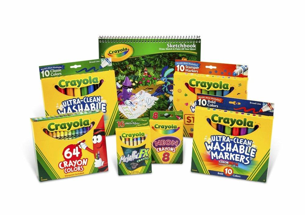 Crayola Crayon And Crayola Ultraclean Washable Marker Kit