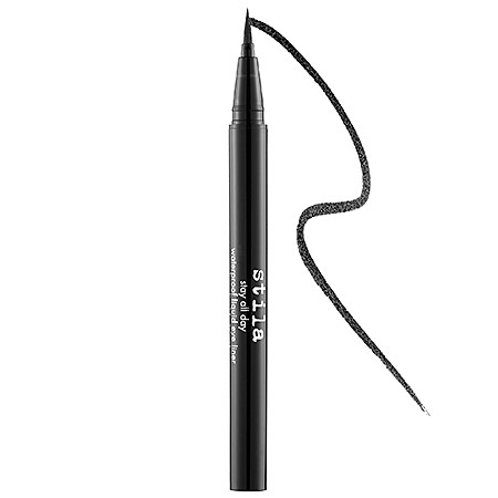 6.   This eyeliner  is easy to apply as a thick or thin line, dries almost instantly, stays all day and washes off easily in the shower!  I stick to  black , but it is available in  many colors .