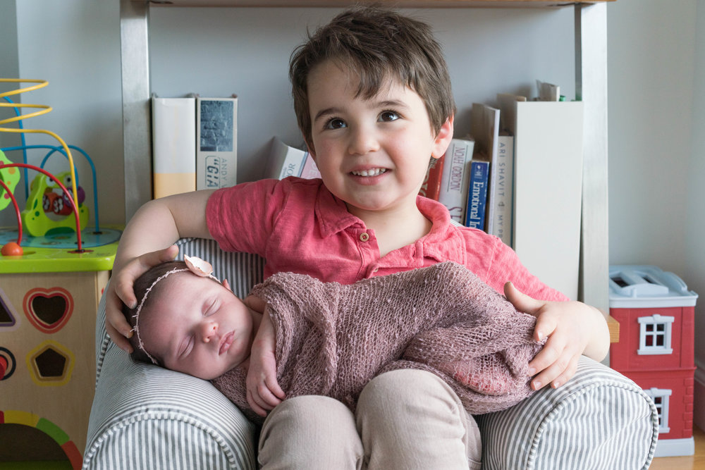 Preventing sibling jealousy with new baby