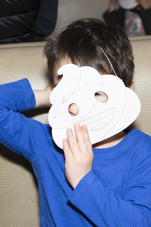 emoji party mask craft