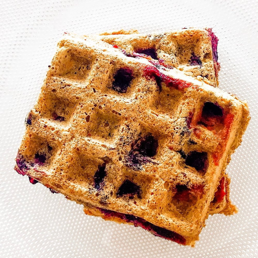 I made this batch with blueberries.