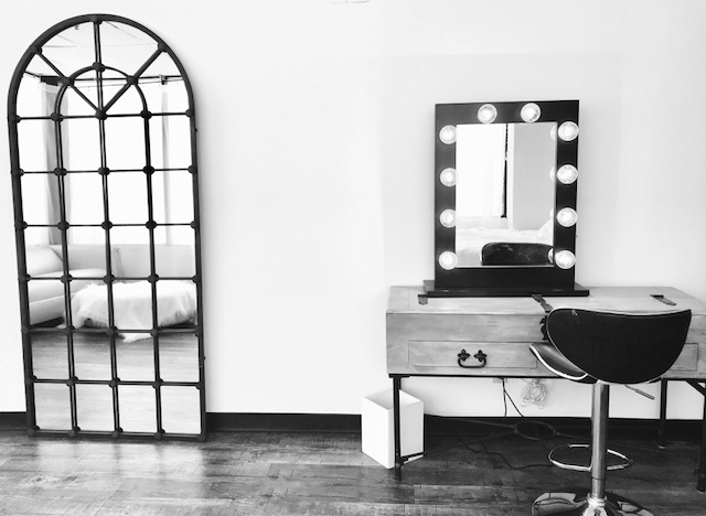 Long Island Boudoir Photography's Daylight Studio Room and Makeup Vanity Table