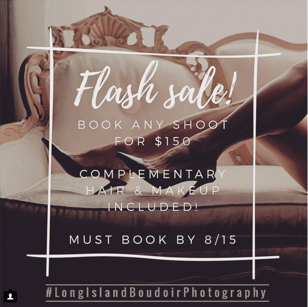 Long Island Boudoir Photography Flash Sale