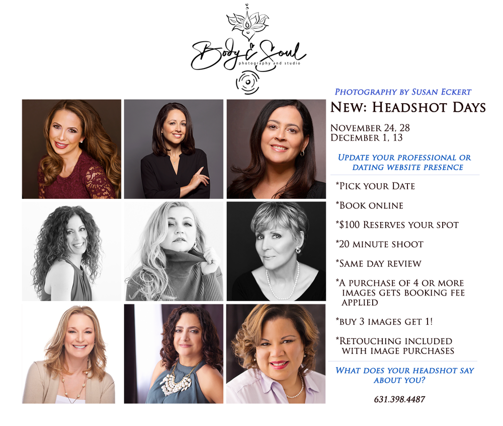 Headshot Day by Susan Eckert of Long Island Boudoir Photography