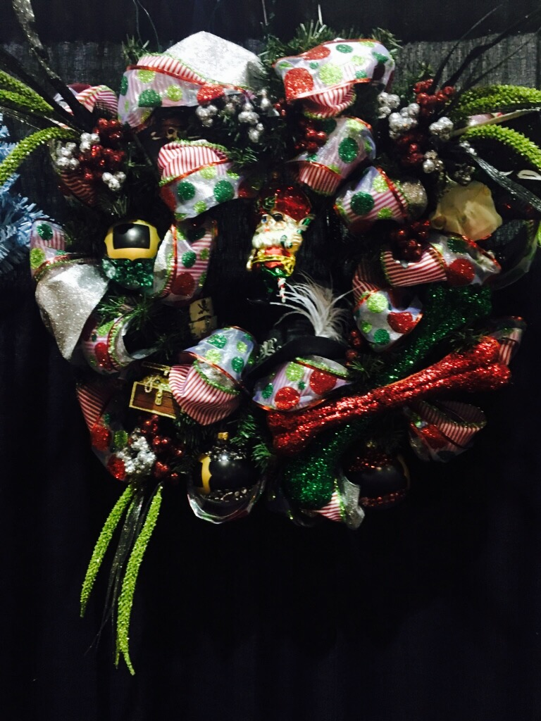 """Santa's Booty"" is a wreath sponsored and created by Tampas own Krewe of Queen Anne's Revenge and up for grabs!!"