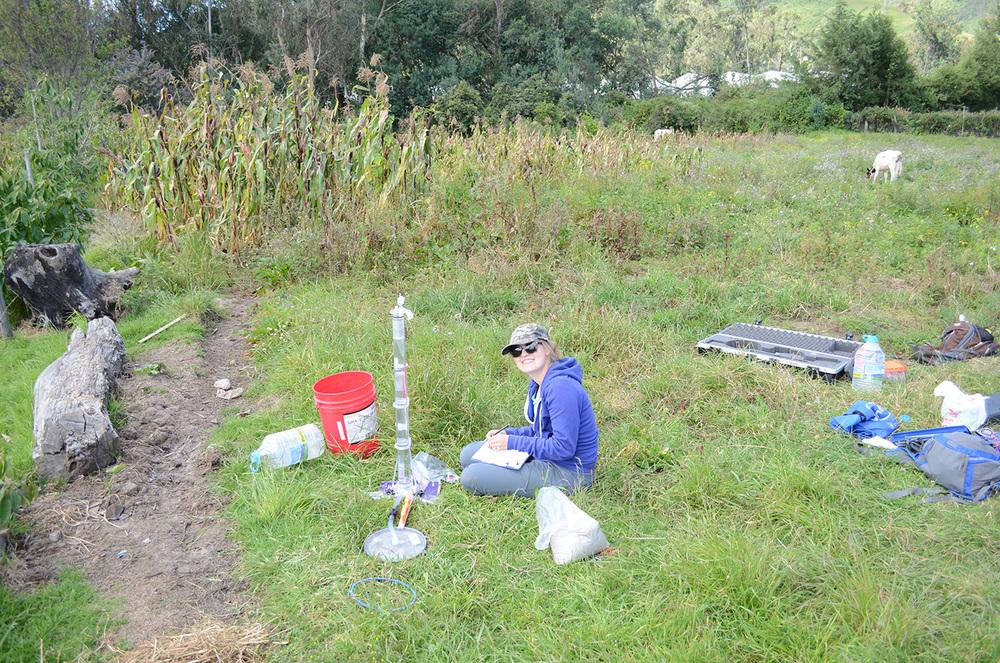 IWP fellow, Brita Rustad, collecting data.
