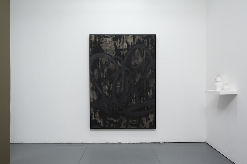 Redemption  2008-2017 Pigment on raw linen 73 x 51 inches, Black floater frame from  Andalusia  at Marisa Newman Projects, New York City  January- 2017–March 2018