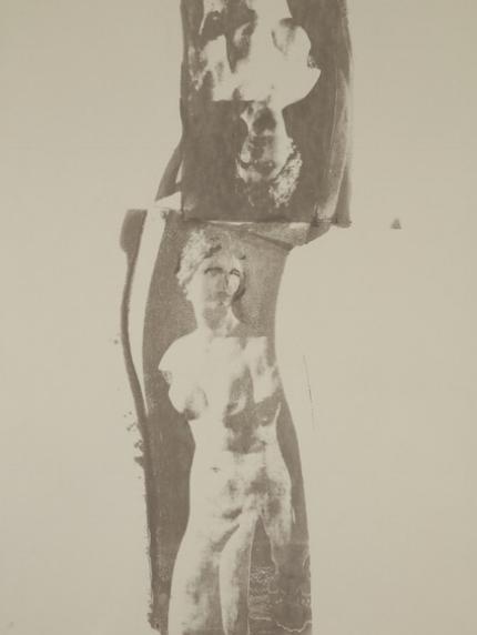 Aphrodite (platinum) Unique Photo Silk Screen over-painted. 24 x 18 inches