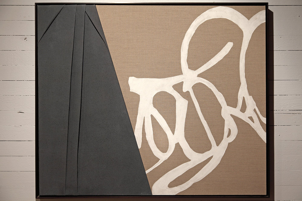 Cavalier  2013 Pigment on Linen, Pleated Linen Oxblood Stained Floater Frame 41.25 x 49.25 in 104.775 x 125.095 cm