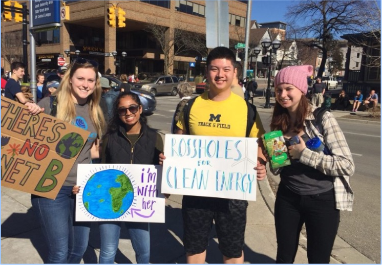 Net Impact members made signs to be a part in the Citizens Climate Rally in February 2017.