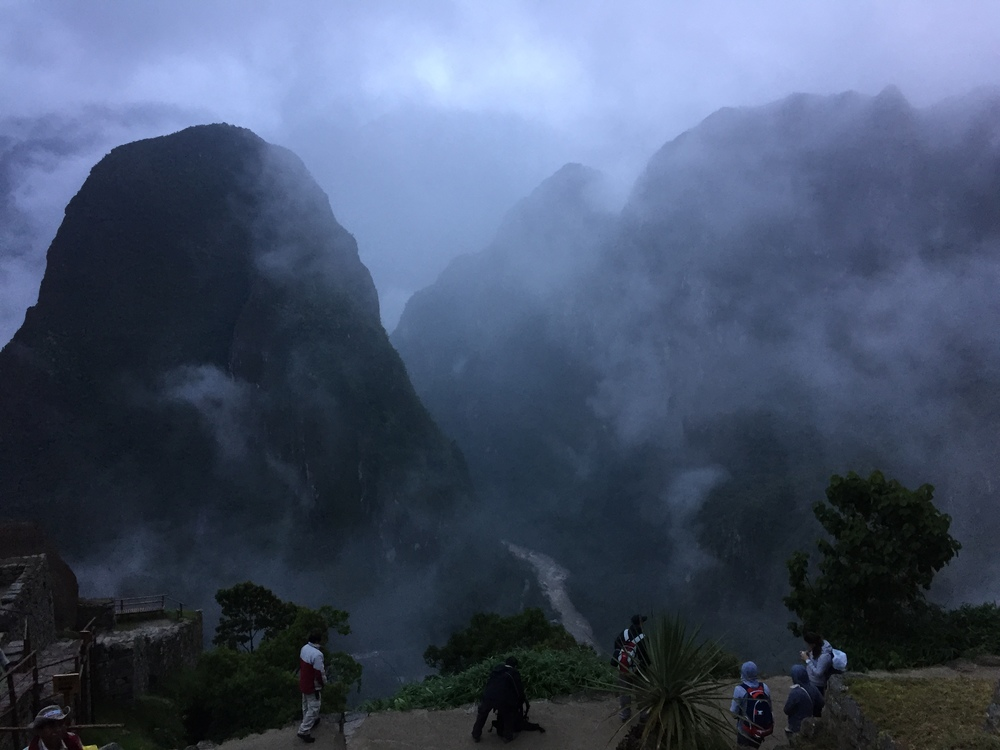 Sun's almost up at Macchu Picchu.