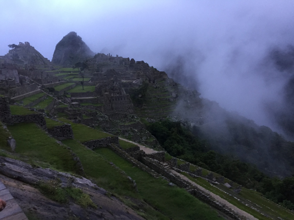 Sunrise at Machu Picchu.