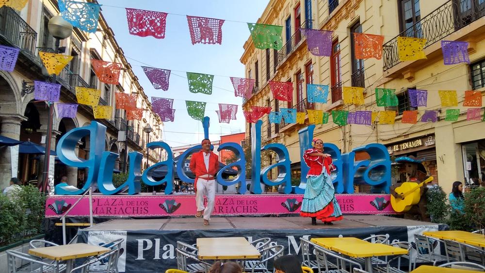 Mariachi Street in Guadalajara