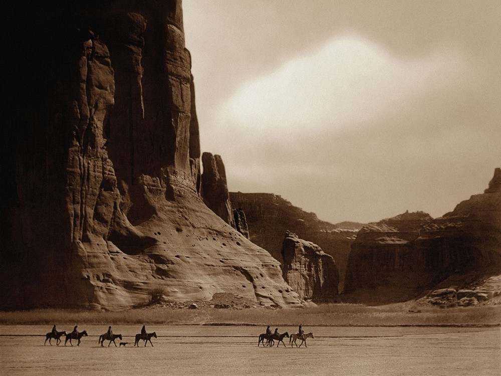 "Edward Curtis ""Canyon De Chelly"""