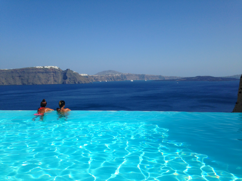 The Infinity Pool at Oia, Santorini, Greece