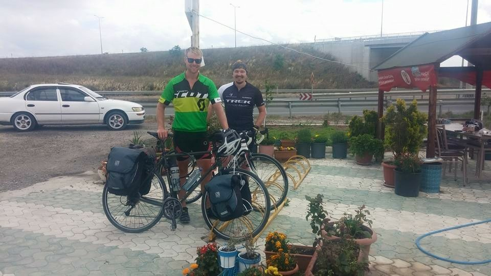 With Utku, one of the founding fathers of cycling in Corlu, Turkey.