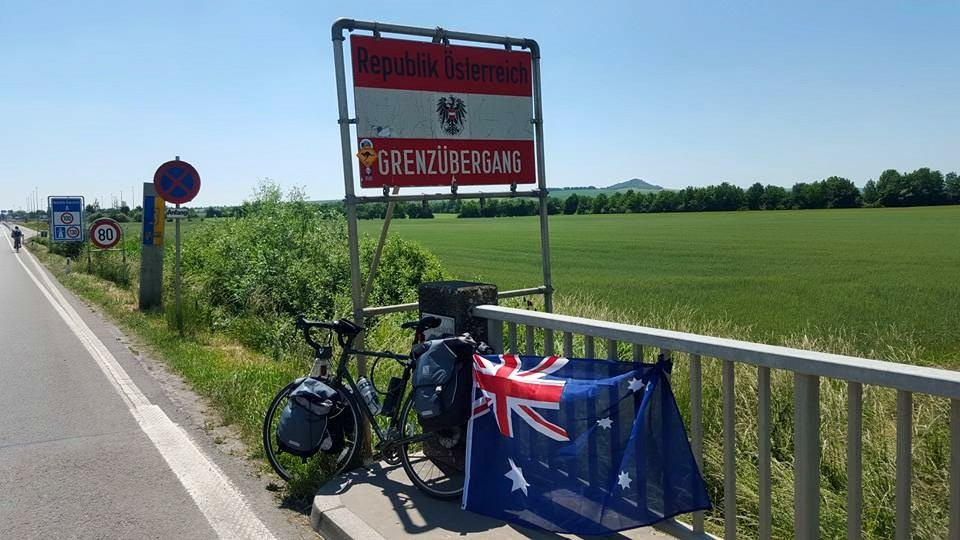 Showing some Aussie pride in Austria